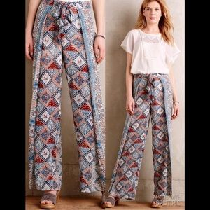Seaflower Wrap pants by Elevenses Anthropologie